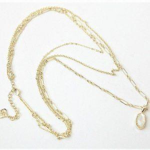 KENDRA SCOTT Elisa Ivory Mother of Pearl Necklace